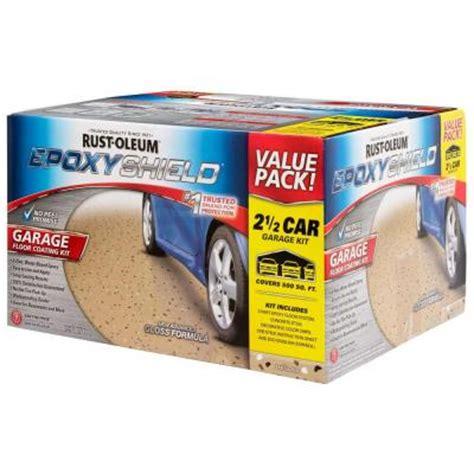 Garage Floor Epoxy Paint Kits Rust Oleum Epoxyshield 2 Gal 2 Part High Gloss Epoxy