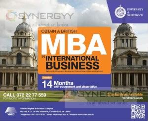 Mba In Business Management In Sri Lanka by Of Greenwich Mba In Sri Lanka Education Synergyy