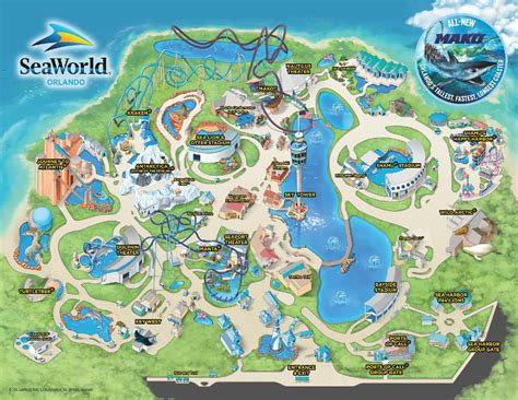 seaworld orlando map theme park attractions map seaworld orlando