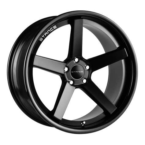black wheels sc 5ive matte black w gloss black lip wheel stance wheels