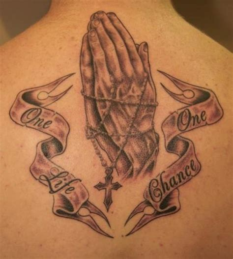 one life live it tattoo designs 20 praying designs creativefan
