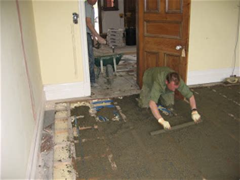 bathroom floor screed mix floor levelling