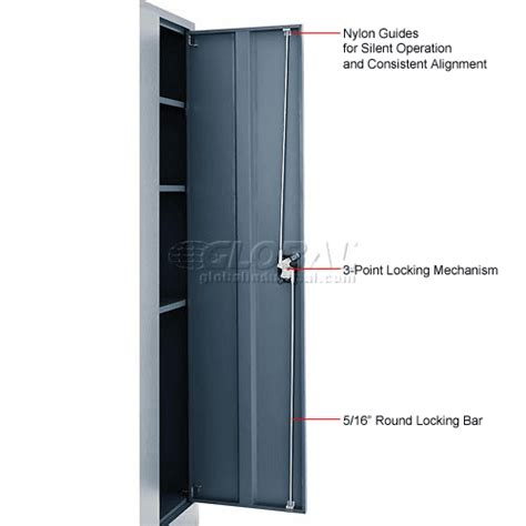 Janitorial Storage Cabinet Cabinets Janitorial Global Janitorial Cabinet Cabinet Assembled 36x18x72 Gray 269903gy