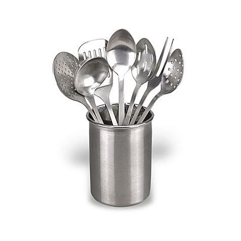 eight piece stainless steel kitchen utensil set bed bath