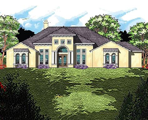 southern custom homes mediterranean styling adorn the exterior of this large