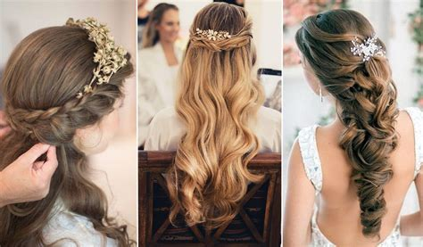 chic messy hairstyles for fall 2015 unique braided elegant wedding hairstyles half up half down tulle