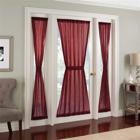 curtains for sidelights on front doors sidelight window treatments homesfeed