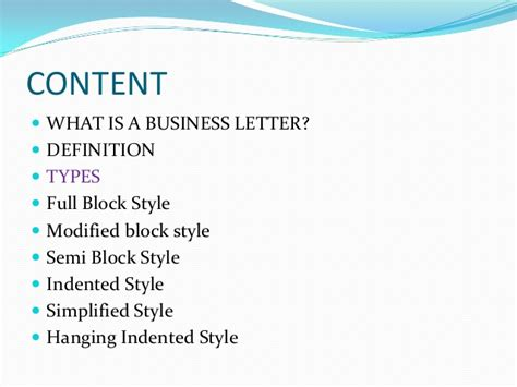 Modified Business Letter Definition Business Letters And Different Styles