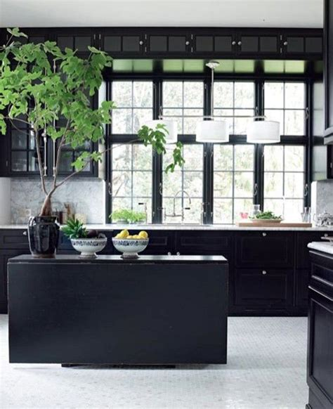 17 best ideas about black kitchen cabinets on