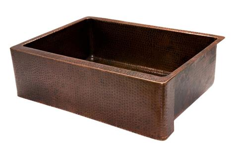 hammered copper apron sink 762mm hammered copper kitchen apron single basin sink