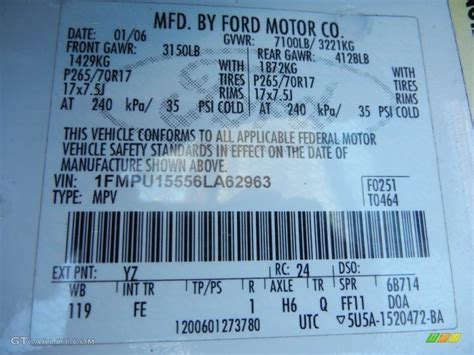 2006 ford expedition xlt color code photos gtcarlot