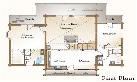 open floor plans with walkout basement log home plans with open floor plans log home plans with