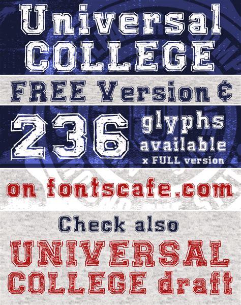 dafont university universal college font dafont com