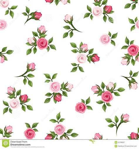 pink rose pattern clipart seamless pattern with pink roses vector illustration