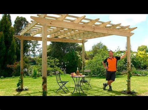 build  pergola mitre  easy  youtube