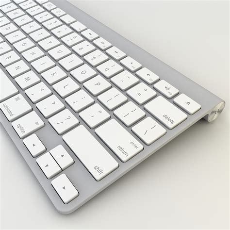 Keyboard Wireless Apple apple mac wireless keyboard 3d models cgtrader