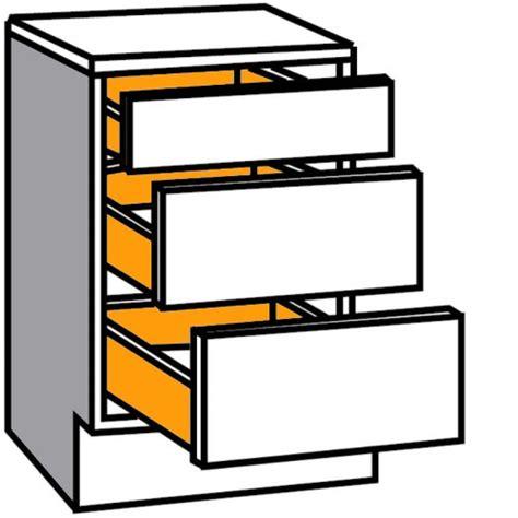 auszug schublade auszug unterschrank komfort mit 1 schublade und 2 ausz 252