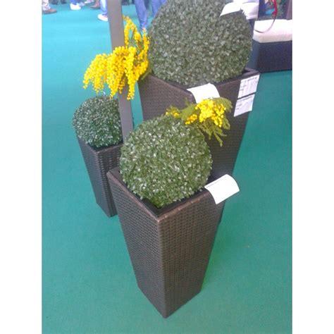 vasi da arredamento set 3 vasi da arredamento areca in polyrattan fioriere