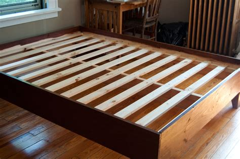 How To Make A Wooden Bed Frame With Drawers Woodwork Diy Wood Bed Frame Pdf Plans