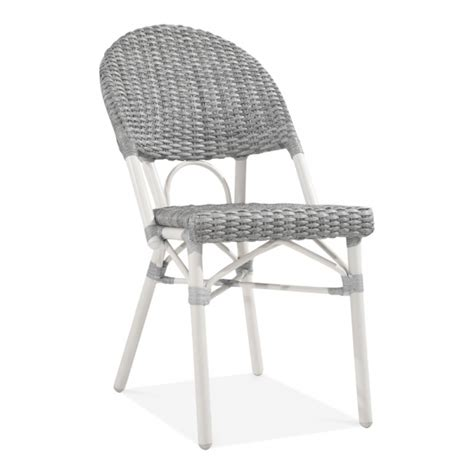 Grey Bistro Chairs Grey And White Maida Rattan Bistro Chair Garden Patio Furniture