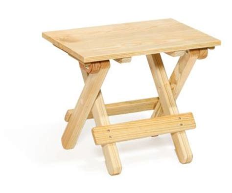 Small Folding Patio Side Table by Amish Pine Folding End Table