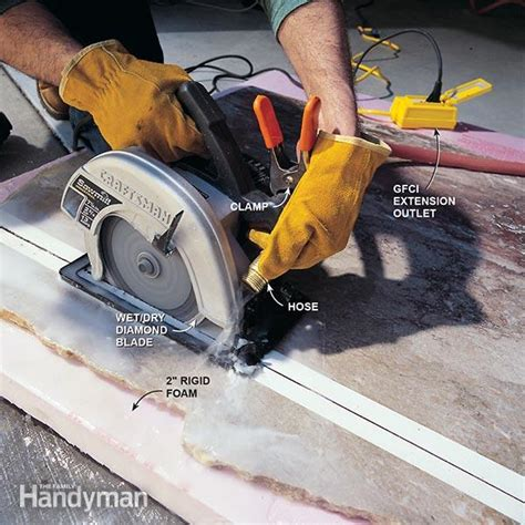 Circular Saw Blade For Cutting Laminate Countertop by How To Cut Marble The Family Handyman