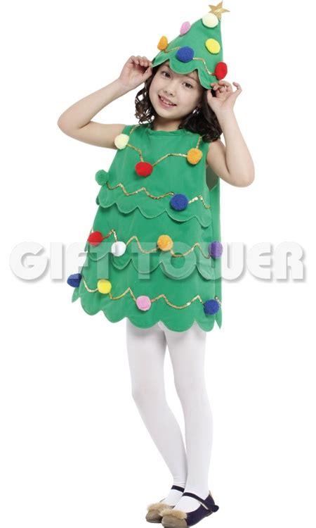 Set Dress Kid Natal retail dress colorful tree costumes dress hat suit