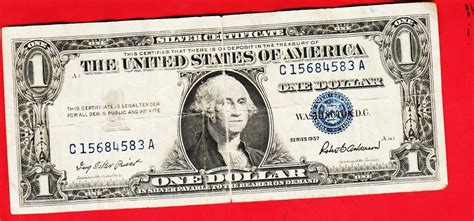 1957 Silver Certificate No Letter Series 1957 One Dollar Silver Certificate Condition For Sale Stockmarketsreview