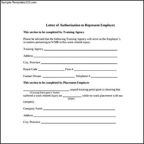 Permission Letter Writing Pdf Letter Of Authorization Form In Pdf Sle Templates