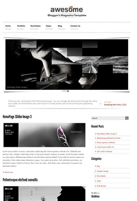 themeforest blog themeforest awesome portfolio blog magazine wordpress