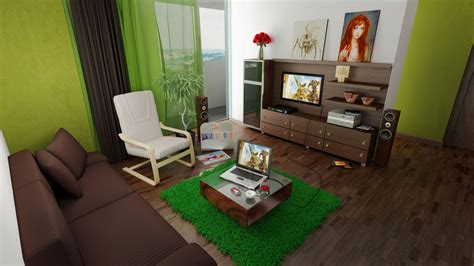 Green And Brown Living Rooms by Green And Brown Living Room By Shyntakun On Deviantart