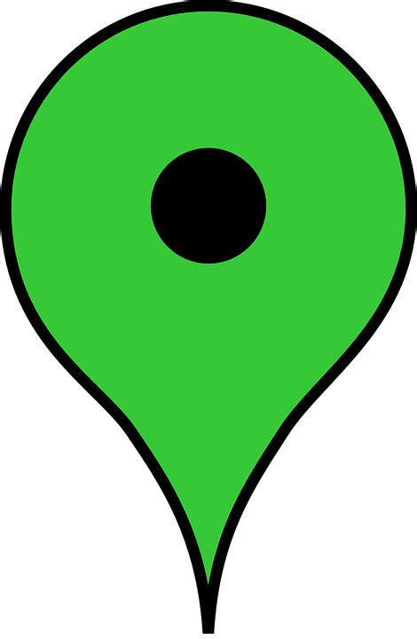maps marker color free vector graphic landmark map marker green free