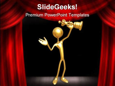 Award Success Entertainment Powerpoint Template 0910 Award Winning Powerpoint Templates