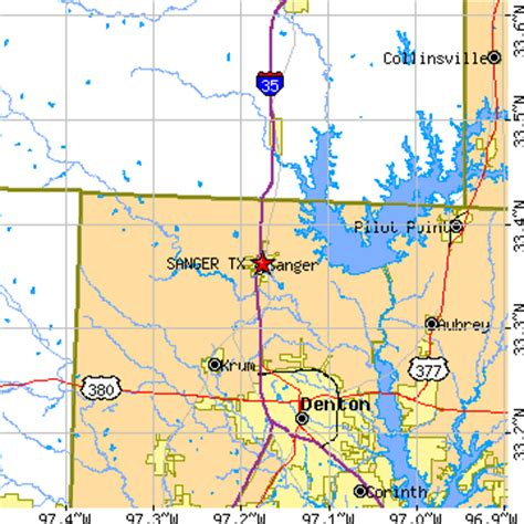 where is sanger texas on the map sanger texas tx population data races housing economy