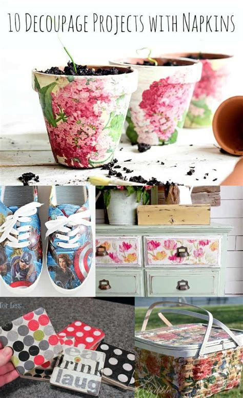 10 decoupage ideas with napkins mod podge rocks