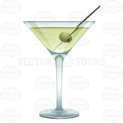 martini cartoon clip martini glass with a green liquid and one green olive