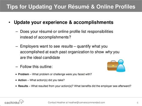 still searching tips for updating your resume