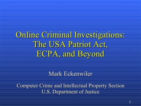 Como Checar Tu Record Criminal En Usa Criminal Investigations The Usa Patriot Act
