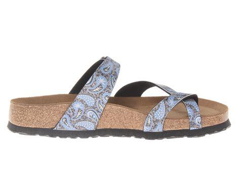 birkenstock designer sandals birkenstock tabora by papillio in blue paisley blue navy