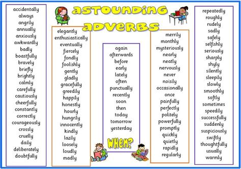 best ideas about list astounding astounding and astounding adverbs on adverbs