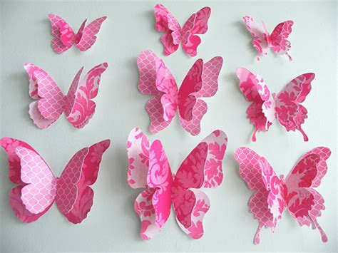 Paper Butterfly Craft Ideas - 13 psd paper butterfly templates designs free