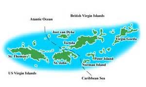 map of bvi and usvi sailing school caribbean islands bvi pacific nw