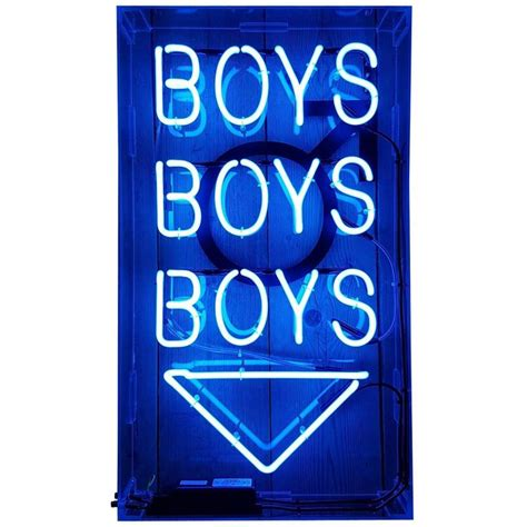 Boys Boys Boys Neon Sign For Sale At 1stdibs Boys Lights