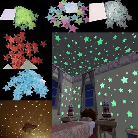 100 pcs wall stickers home decor glow in the dark star aliexpress com buy 100pcs 3cm diameter 3d stars glow in