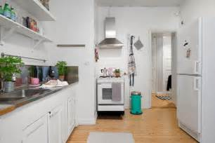 Apartment Kitchen Decorating Ideas Cute Apartment With Simple Black And White Decor