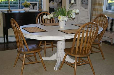 Painting Dining Table Painting Oak Pedestal Table Images