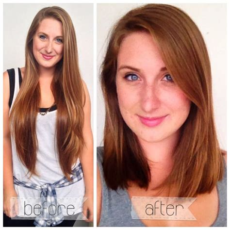 long bob haircuts before and after hair cut long bob before and after locks pinterest