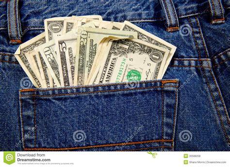 a pocket full of back jeans pocket full of cash stock photo image 30588258