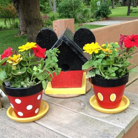 cute flower pots cute flower pot ideas cute mickey flower pots and birdhouse gift ideas baby shower and