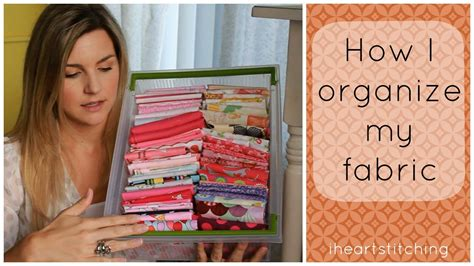 How To Store Quilt Fabric by How I Organize Fabric And More